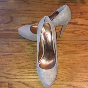Nude BCBG pumps